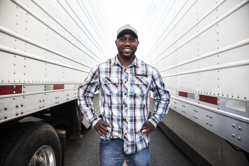 mover with his trucks