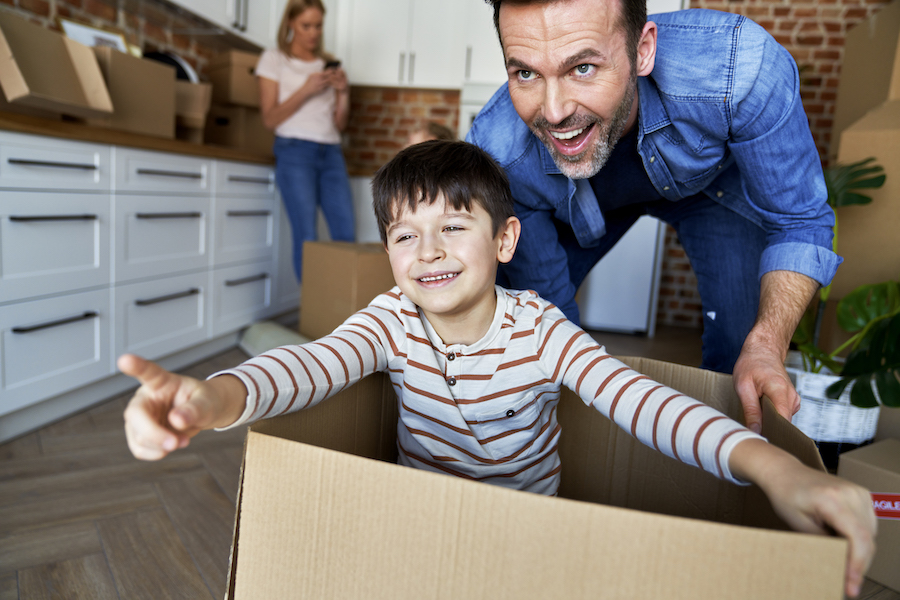 fast way to pack when moving home for last minute move